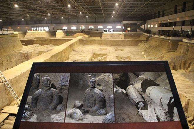 hall 2 armée des soldats de terre cuite Xian Chine