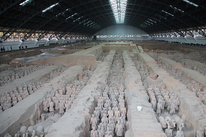 hall 3 armée des soldats de terre cuite Xian Chine