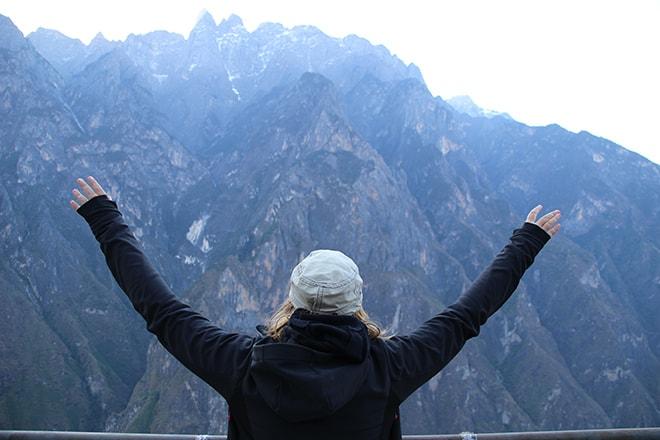 réussite Trek des Gorges du Saut du Tigre Yunnan Chine