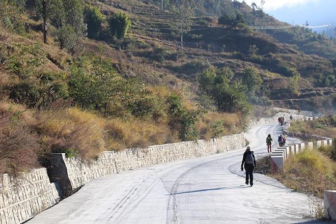 route Trek des Gorges du Saut du Tigre Yunnan Chine