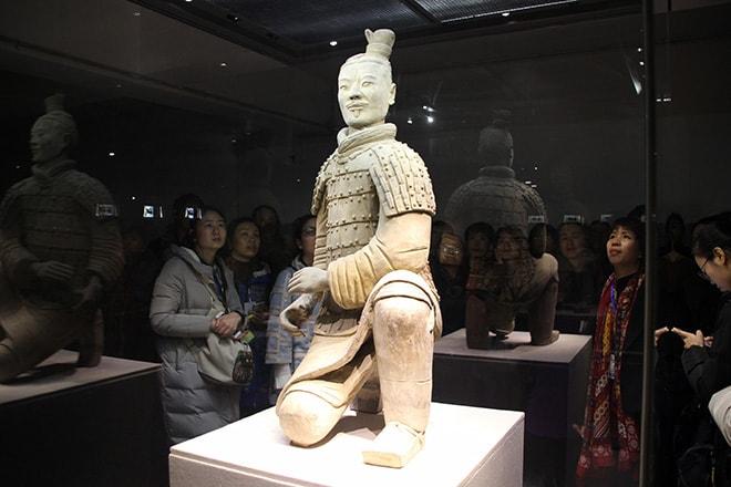 statue armée des soldats de terre cuite Xian Chine