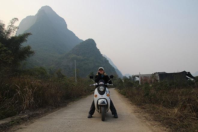 Delire en scooter Yangshuo Chine