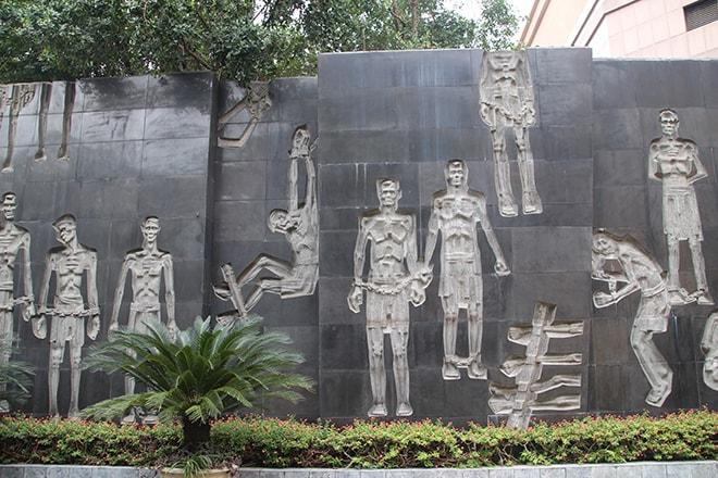Fresque prison centrale Hanoi Vietnam