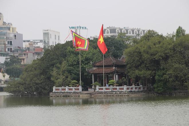 Lac centre ville Hanoi Vietnam