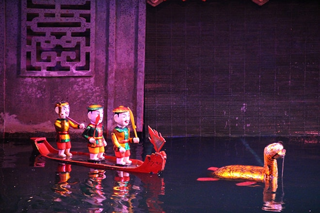 Spectacle marionnettes Hanoi Vietnam