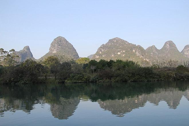 Yangshuo Chine pics karstiques