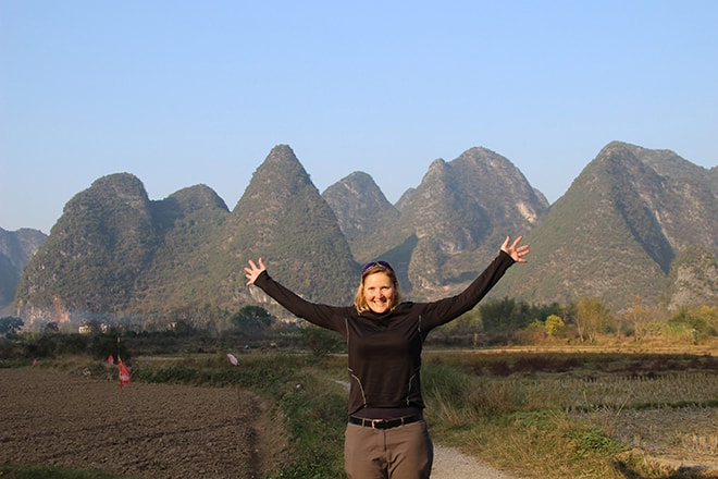 profiter des paysages karstiques Yangshuo Chine