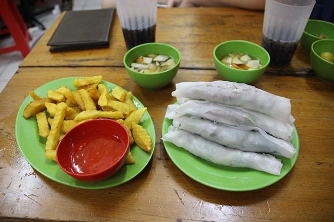 Pho Cuon Manger à Hanoi