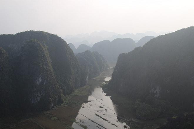 Vue depuis le Mont mua Tam Coc Vietnam