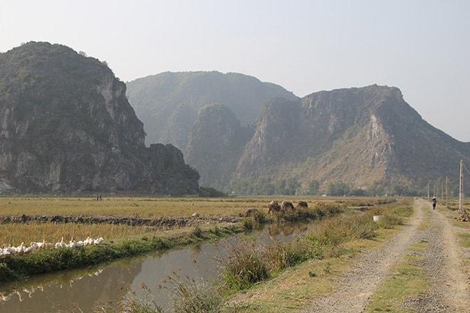 rizières et pics karstiques Tam Coc Vietnam
