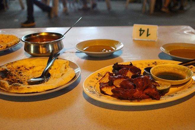 Poulet Tandoori et cheese naan Melaka Malaisie-min