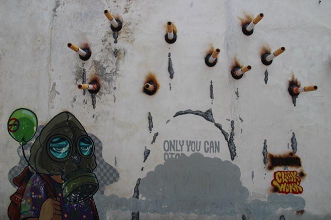 Fumee Street Art Penang Malaisie