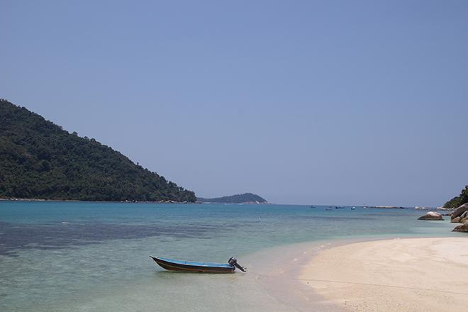 Bateau plage Iles Perhentian Malaisie
