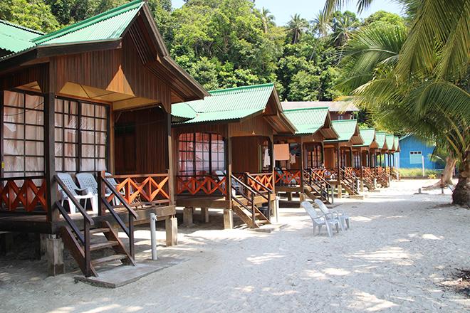 Bungalow Sea View Abdul Chalets Iles Perhentian Malaisie