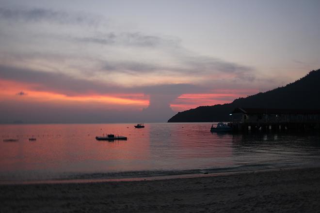Iles Perhentian Malaisie Coucher de soleil