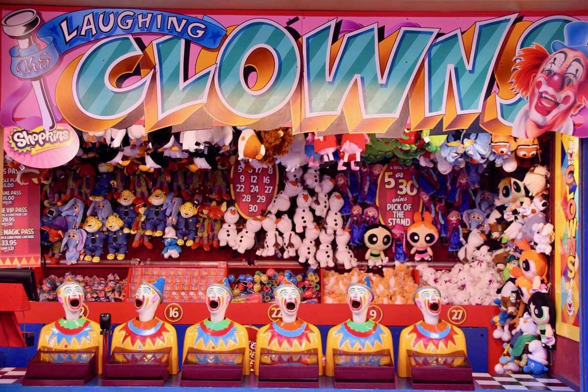 Clowns luna park Sydney
