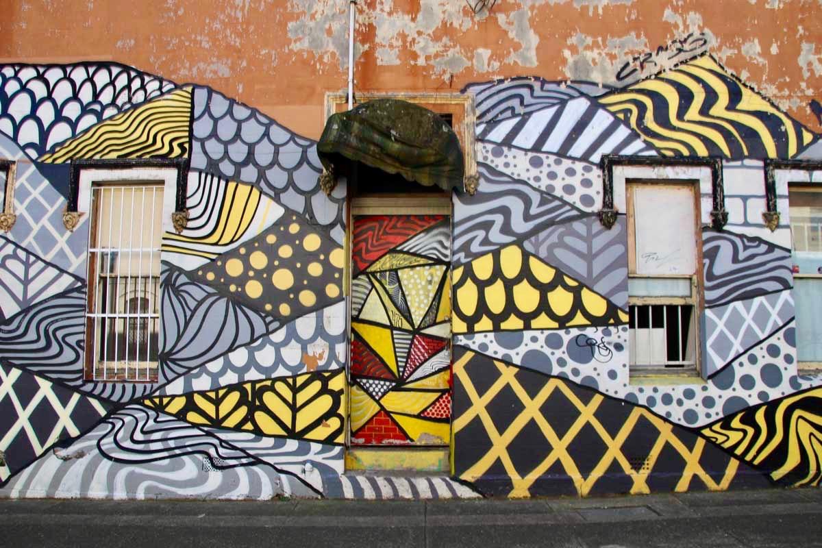 Facade street art Newtown Sydney