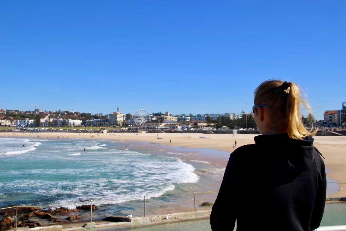 Moi plage Bondi Beach Sydney