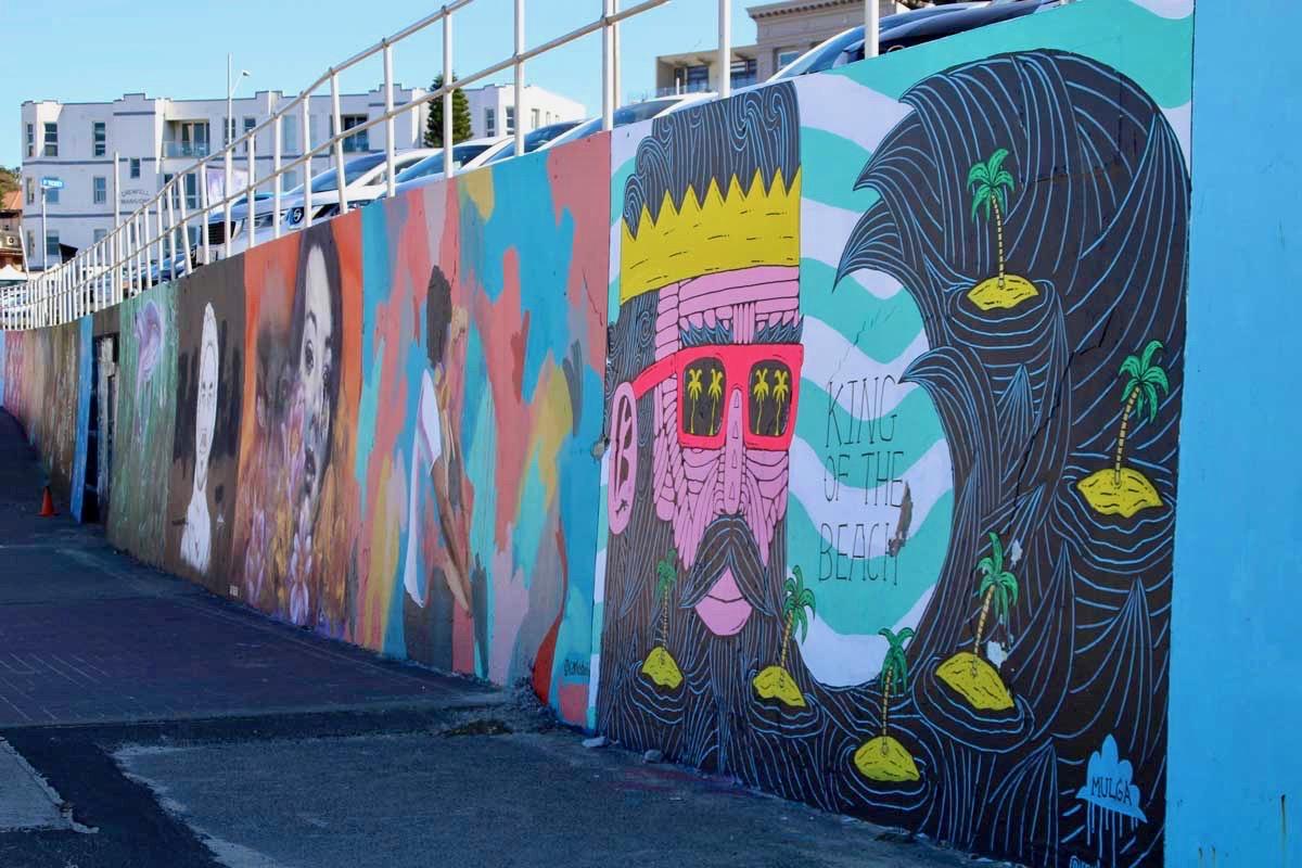Mural Street Art Bondi Beach Sydney