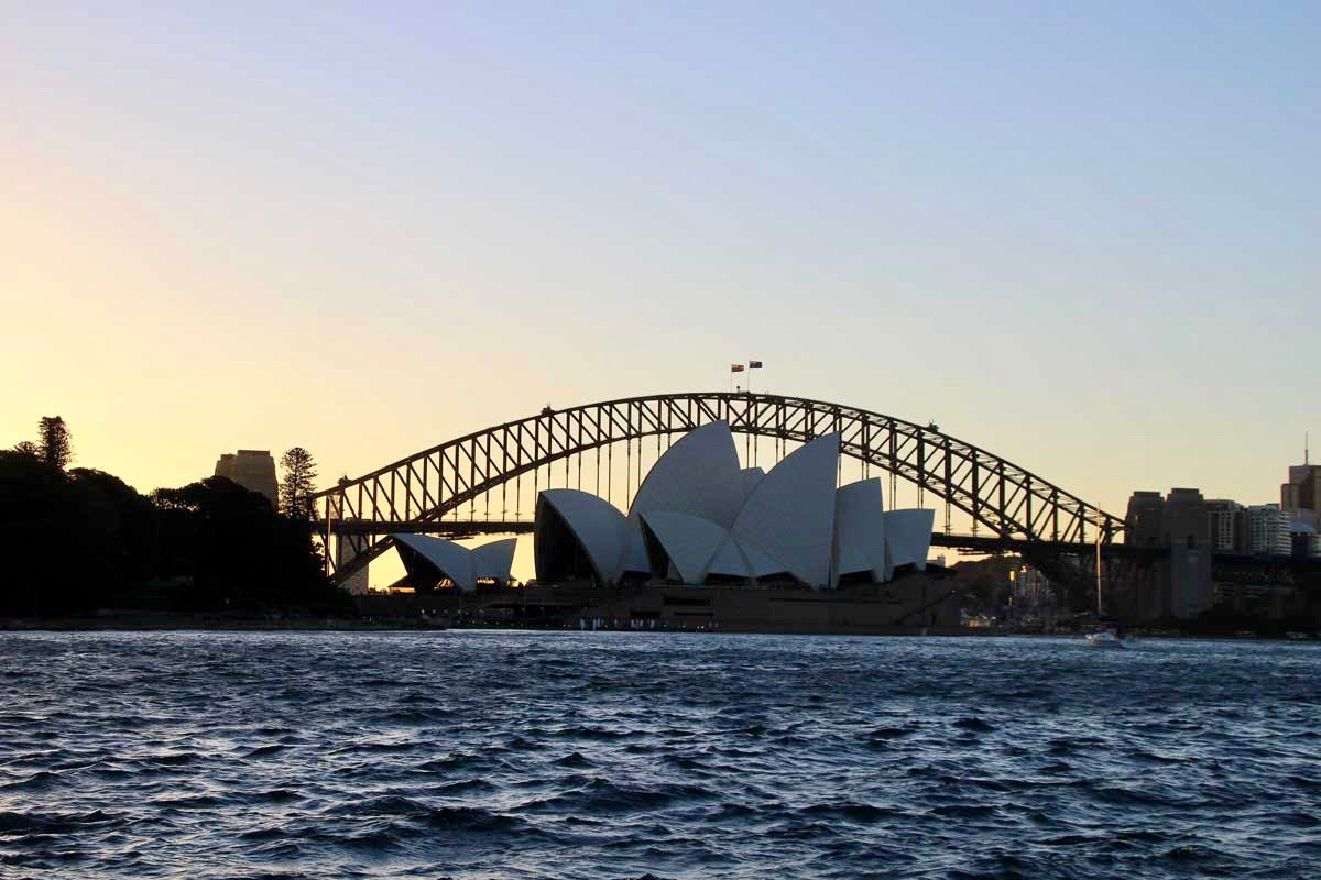 Opera House Harbour Bridge coucher de soleil