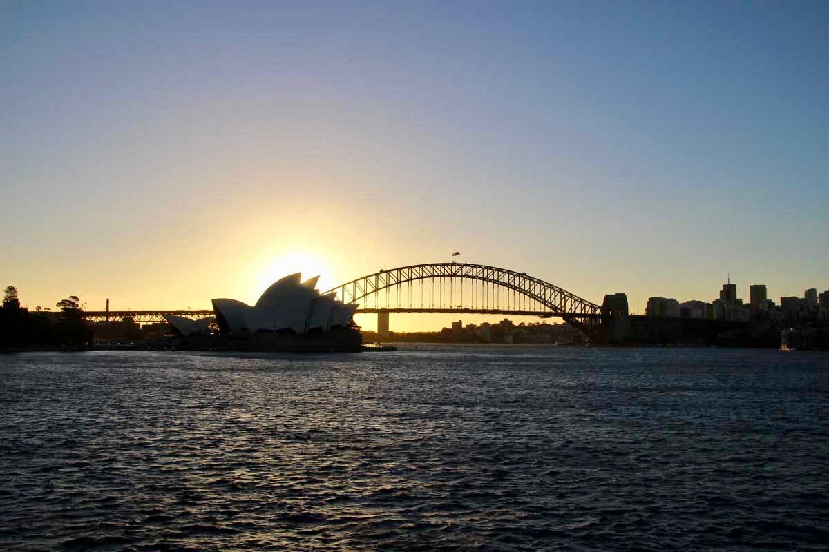 Opera House coucher de soleil
