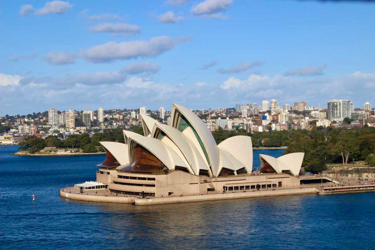 Opera de Sydney depuis le Harbour Bridge