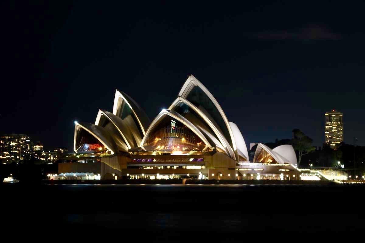 Opera de sydney nuit