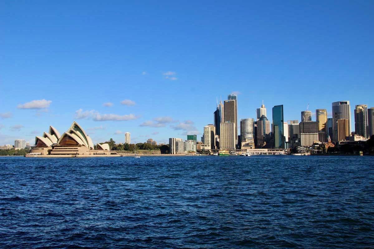 Vue Opera de Sydney en face