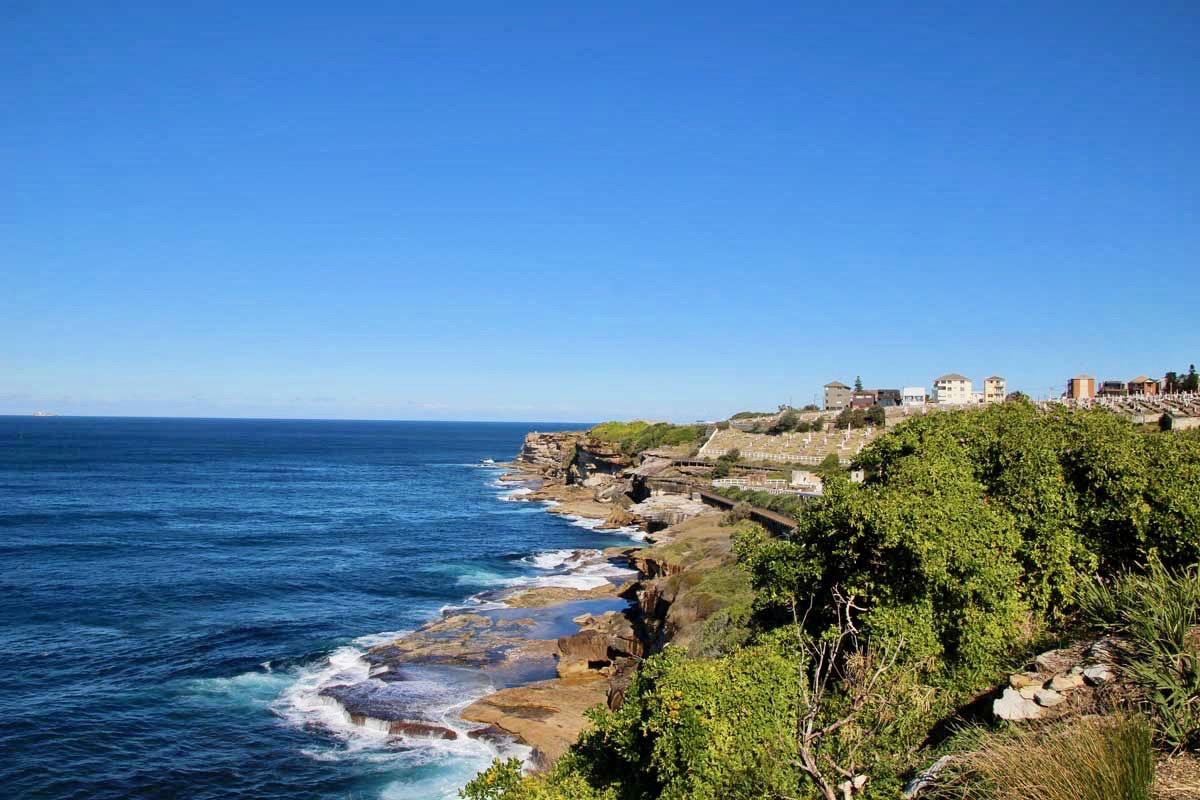 paysage coastal walk Bondi Beach Sydney