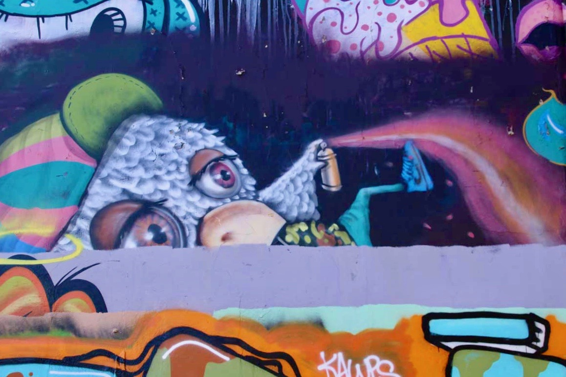 street art recouvert Newtown Sydney
