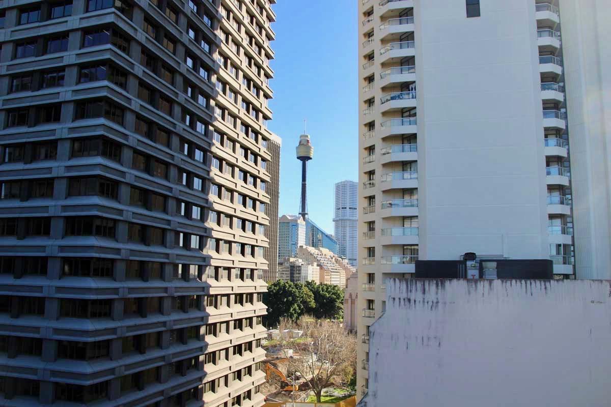 vue depuis l'appartement Sydney