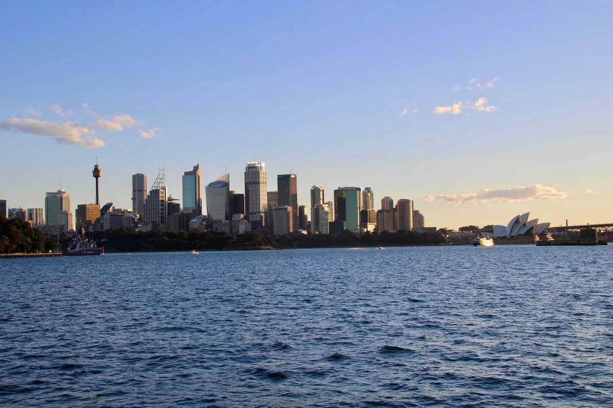 Coucher de soleil depuis le ferry Sydney