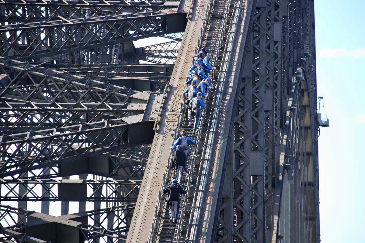 Groupe Bridge Climb sur le Harbour BridgeGroupe Bridge Climb sur le Harbour Bridge