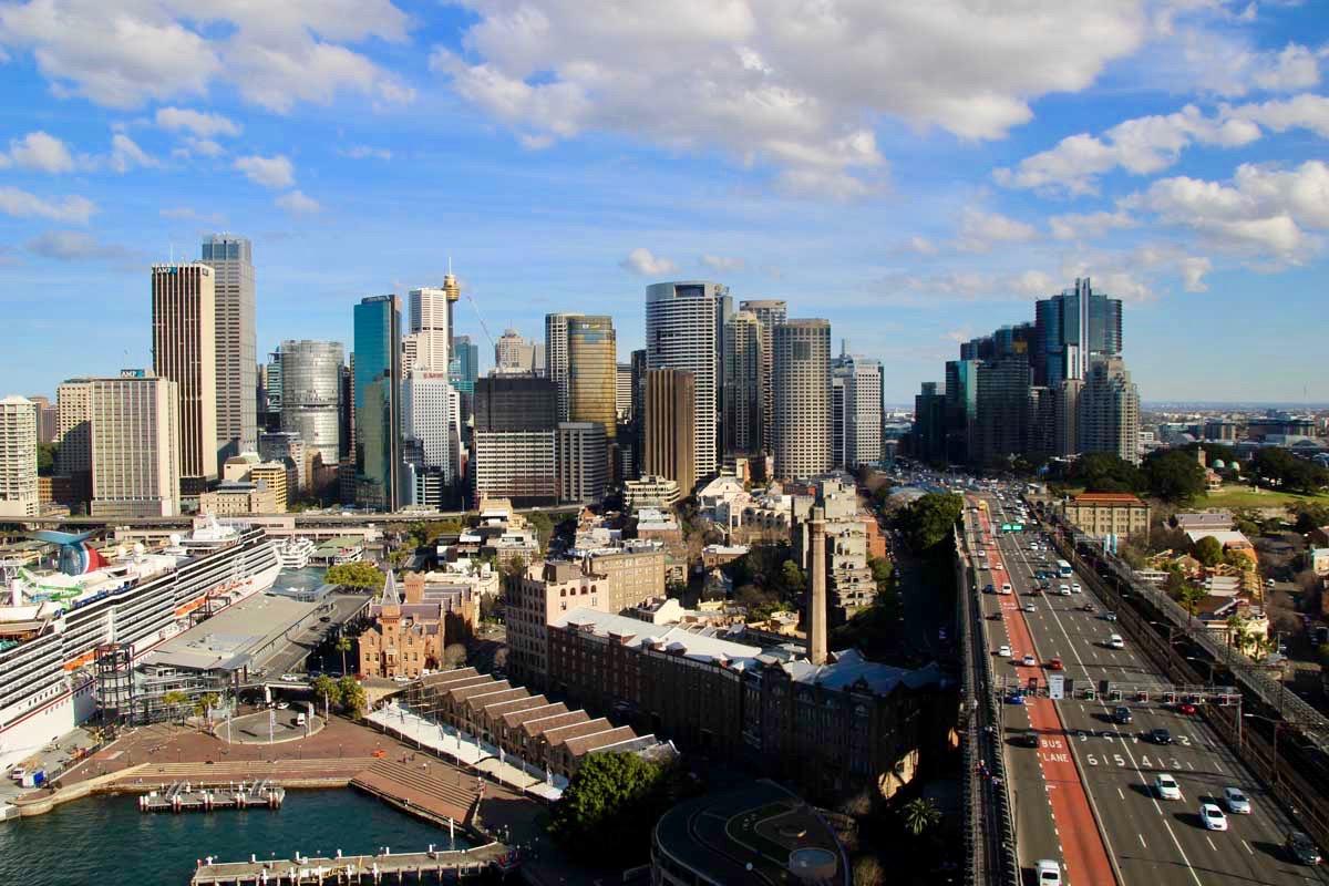 Sydney vue depuis Pylon Harbour Bridge