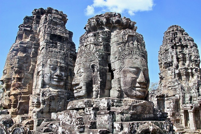 Bayon temples Angkor Cambodge