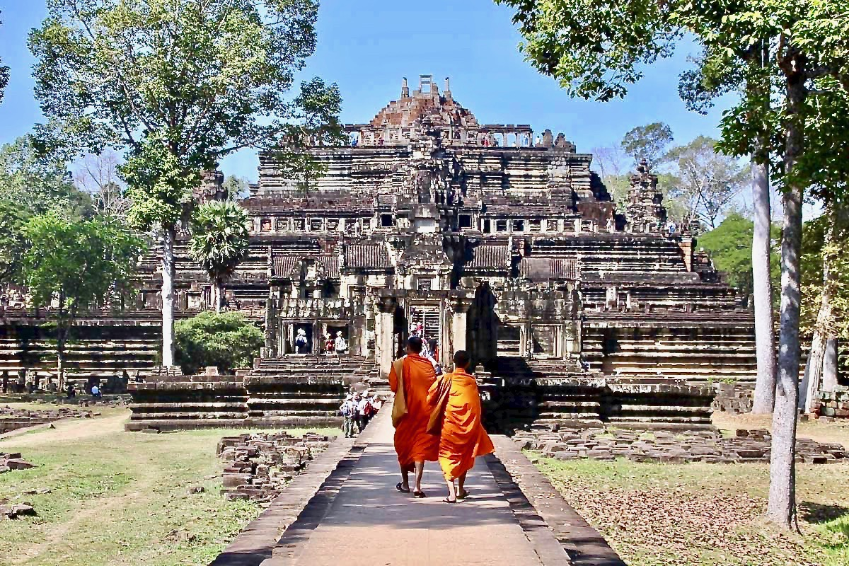 Moines Temples Angkor Cambodge