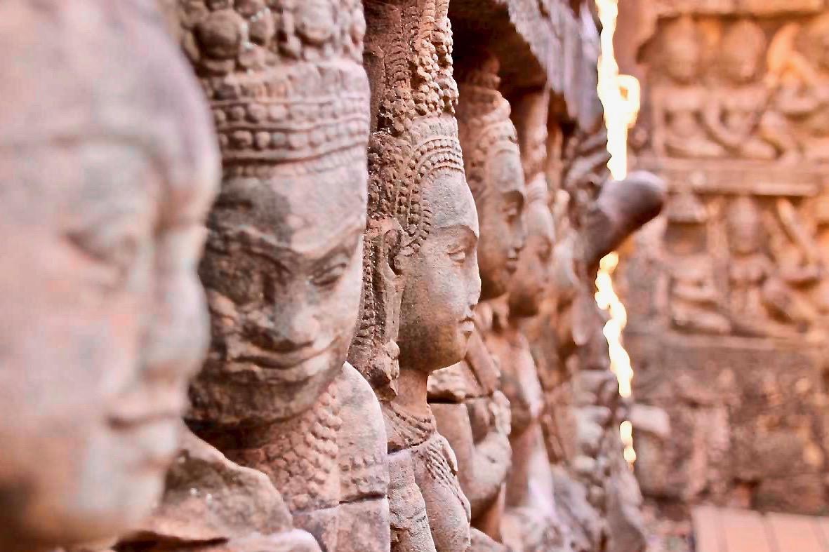 Sculptures Temples Angkor Cambodge