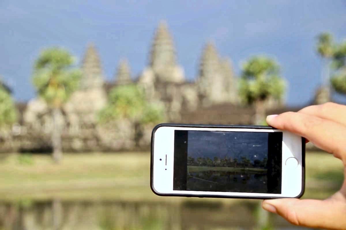 Telephone Angkor Wat Temples Cambodge