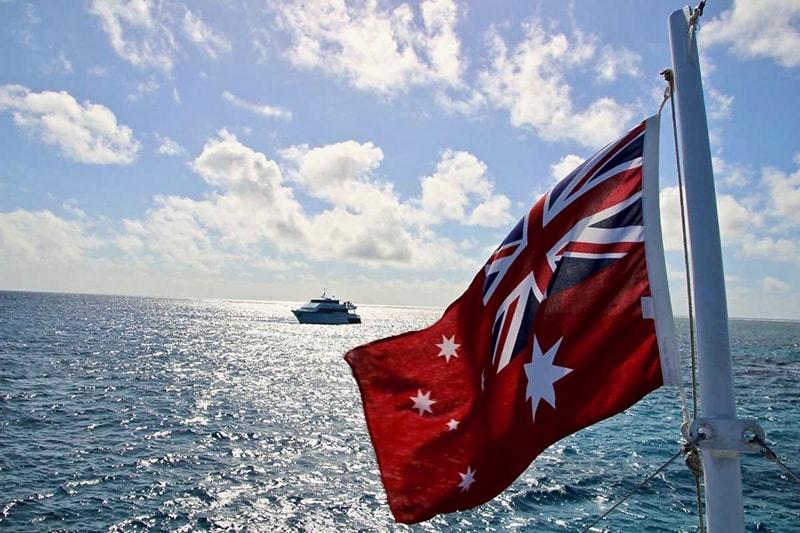 drapeau Grande Barriere de Corail Cairns
