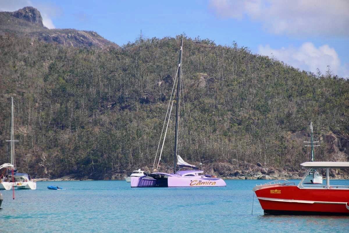 Camira de loin Whitsunday Australie