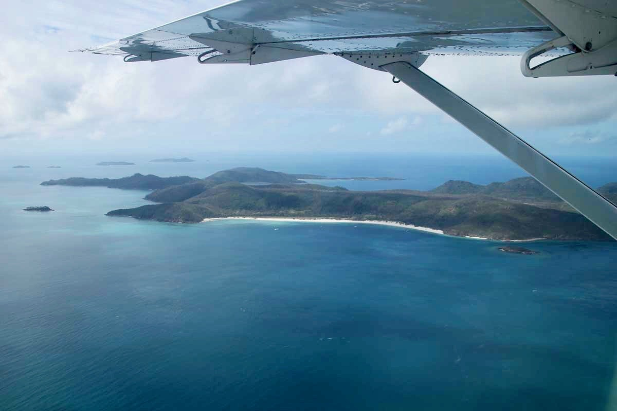 White haven beach vue avion GSL Whitsunday Australie