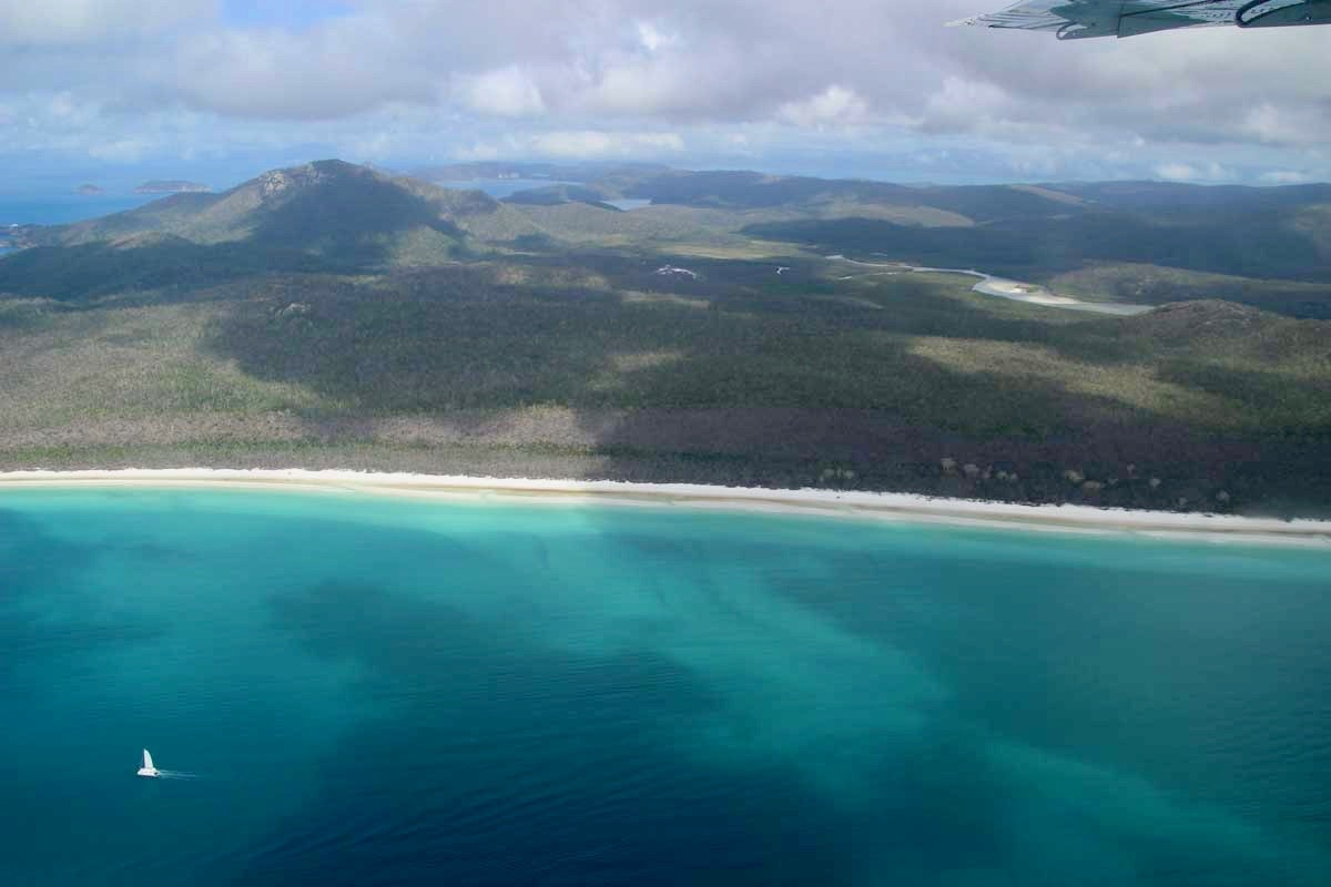 longueur white haven beach Whitsunday Australie