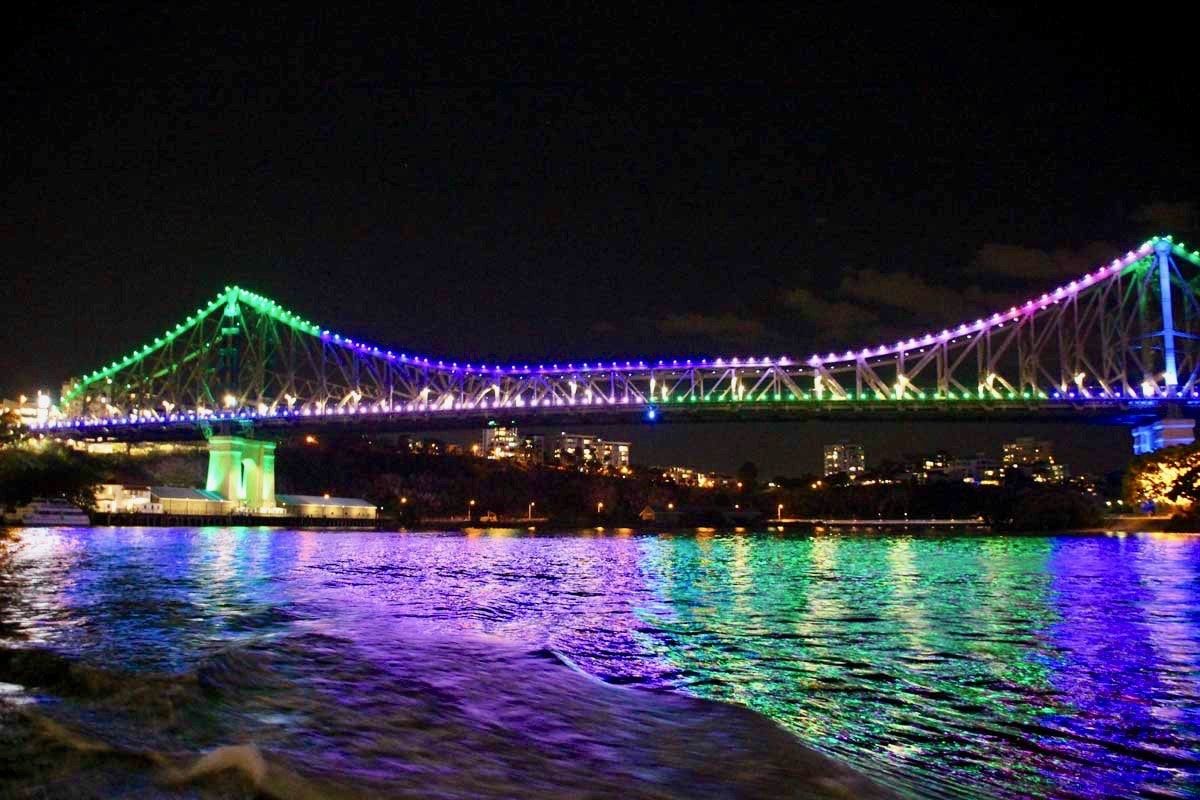 pont illumine Brisbane