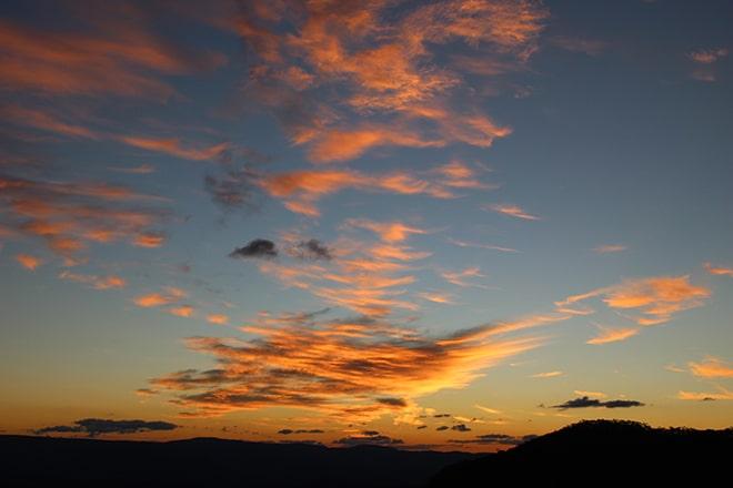 Coucher de soleil Blue Mountains Australie
