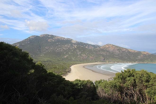 Vue plage Wilsons Promontory