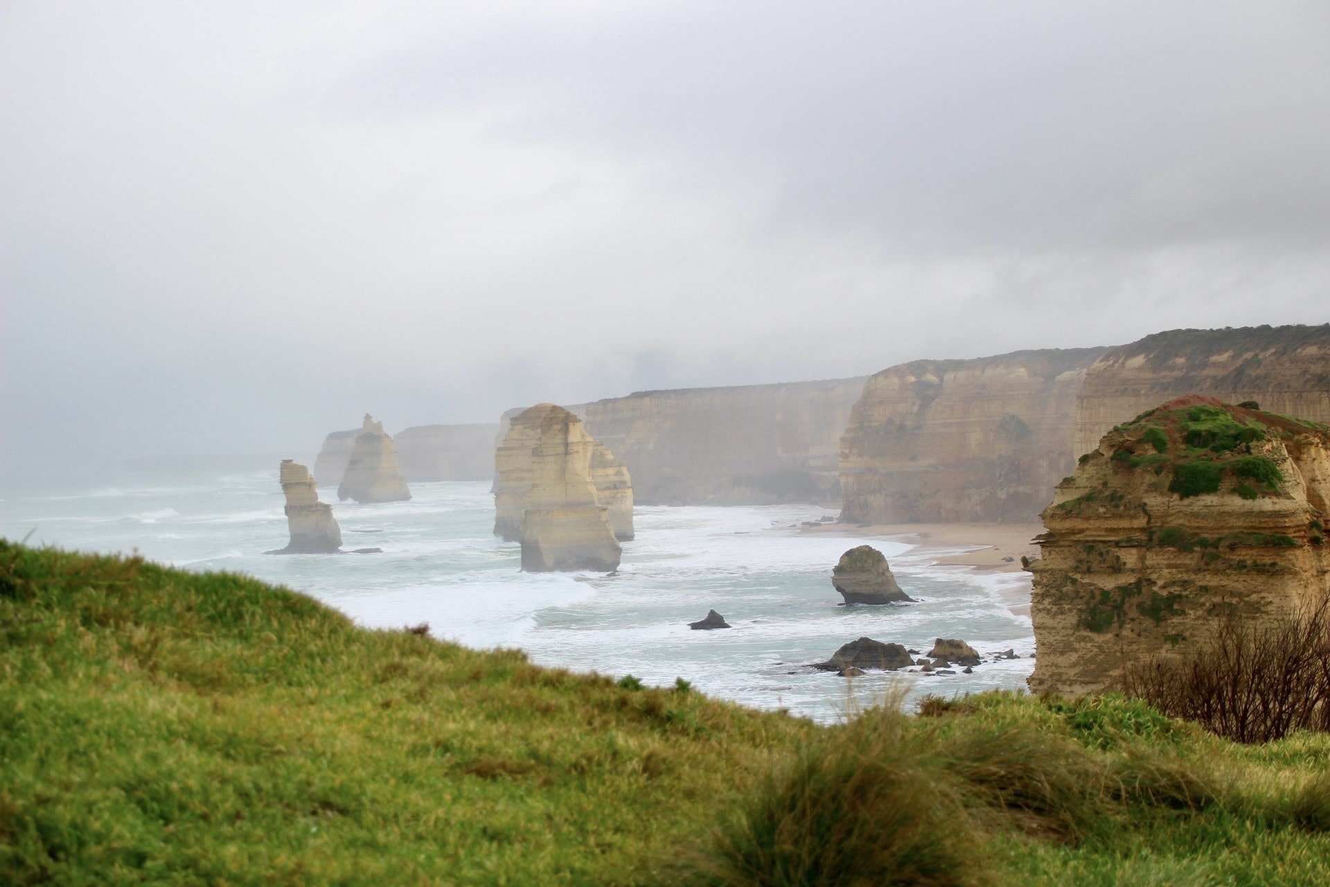 Brume 12 Apôtres Great Ocean Road Australie
