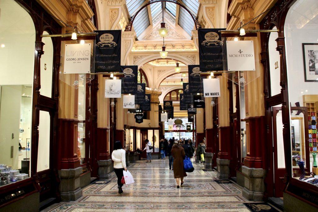 Centre ville Melbourne Galerie couverte