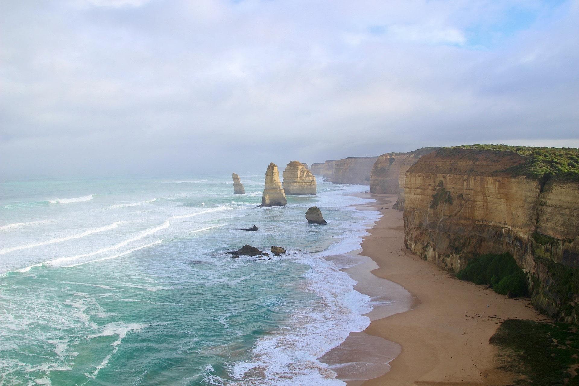 Vue 12 Apôtres Great Ocean Road Australie