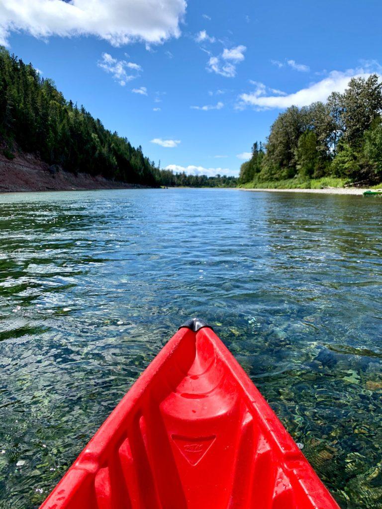 Kayak Rivière Bonaventure - Gaspésie Canada
