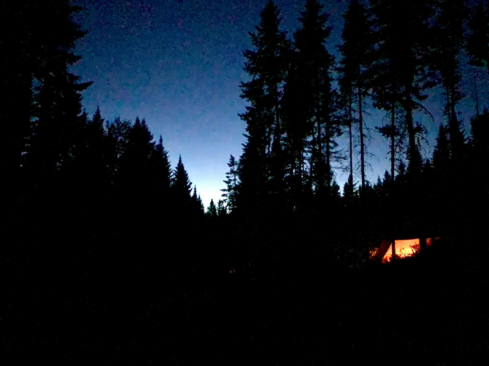 Lac Témiscouata Québec de nuit